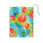 Red Cherries Drawstring Pouches (Large)  Front