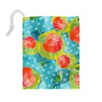 Red Cherries Drawstring Pouches (Large)  Back