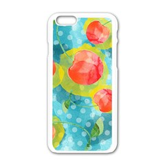 Red Cherries Apple Iphone 6/6s White Enamel Case