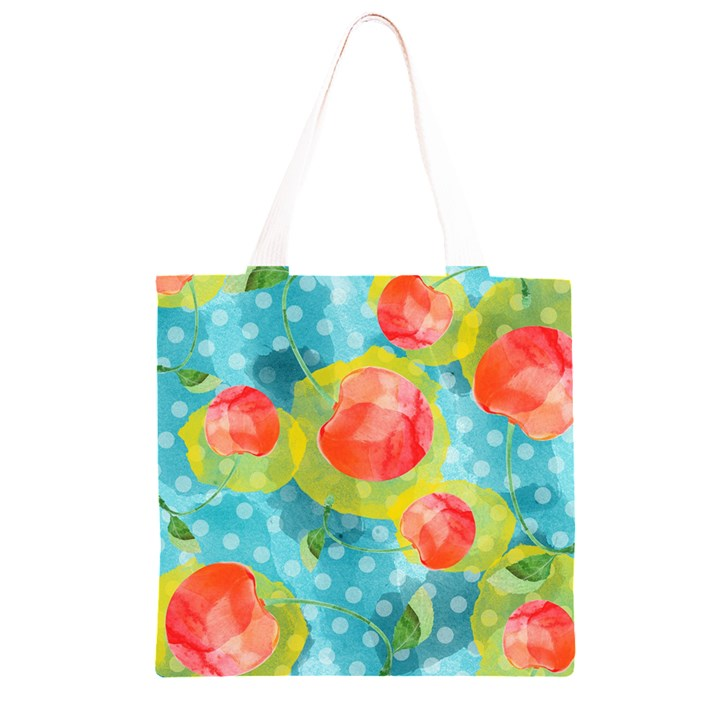 Red Cherries Grocery Light Tote Bag