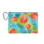 Red Cherries Canvas Cosmetic Bag (M) Front