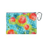 Red Cherries Canvas Cosmetic Bag (M) Back