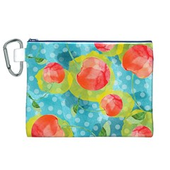 Red Cherries Canvas Cosmetic Bag (XL)