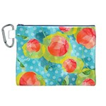 Red Cherries Canvas Cosmetic Bag (XL) Front