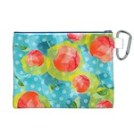 Red Cherries Canvas Cosmetic Bag (XL) Back