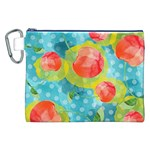 Red Cherries Canvas Cosmetic Bag (XXL) Front