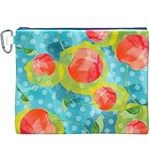 Red Cherries Canvas Cosmetic Bag (XXXL) Front