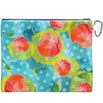 Red Cherries Canvas Cosmetic Bag (XXXL) Back