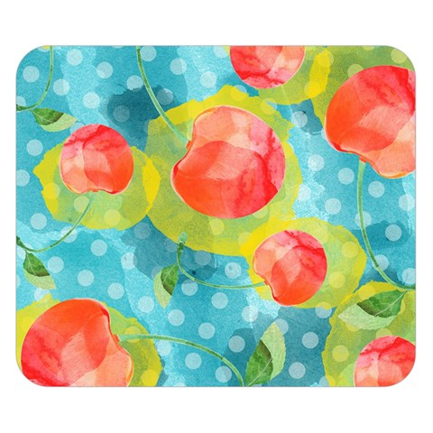 Red Cherries Double Sided Flano Blanket (Small)