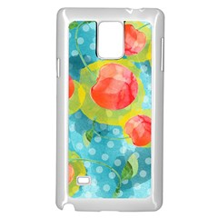 Red Cherries Samsung Galaxy Note 4 Case (White)