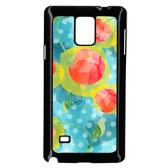 Red Cherries Samsung Galaxy Note 4 Case (Black)