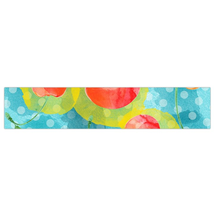 Red Cherries Flano Scarf (Small)