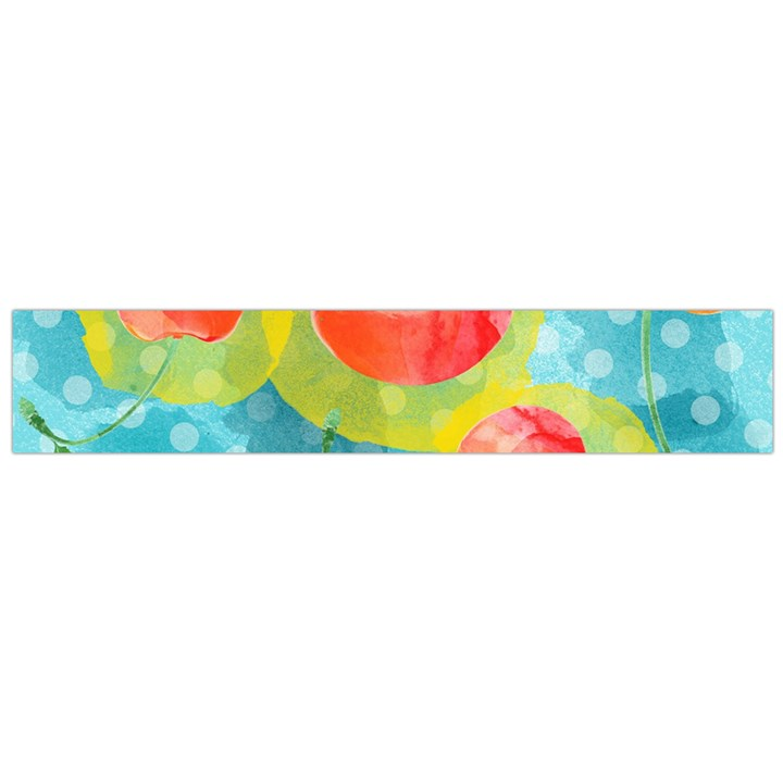 Red Cherries Flano Scarf (Large)