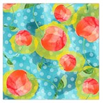 Red Cherries Large Satin Scarf (Square) Front