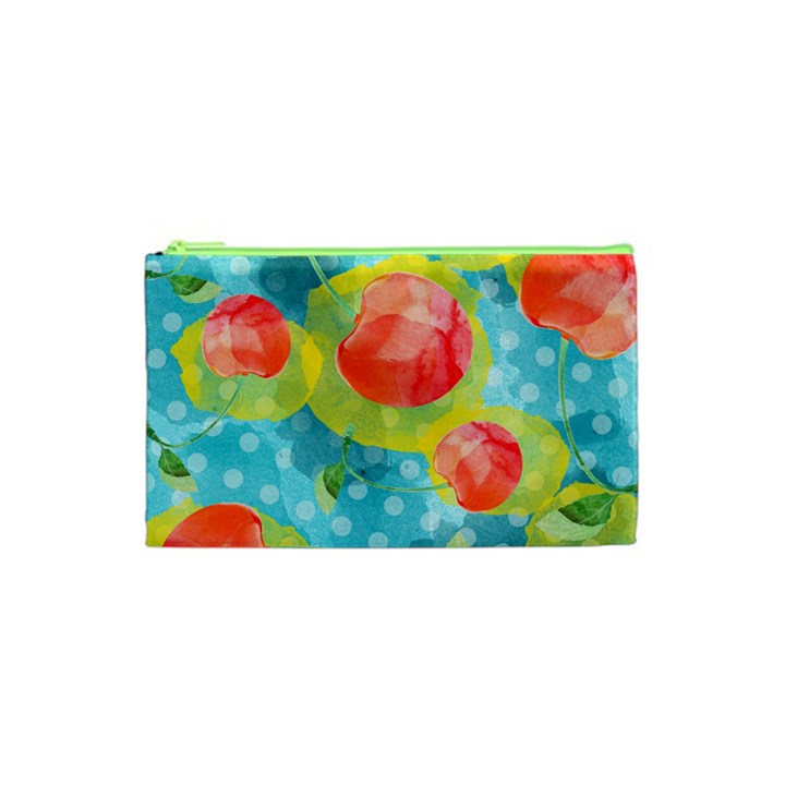 Red Cherries Cosmetic Bag (XS)