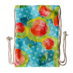 Red Cherries Drawstring Bag (Large)