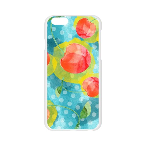 Red Cherries Apple Seamless iPhone 6/6S Case (Transparent)