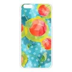 Red Cherries Apple Seamless iPhone 6 Plus/6S Plus Case (Transparent)