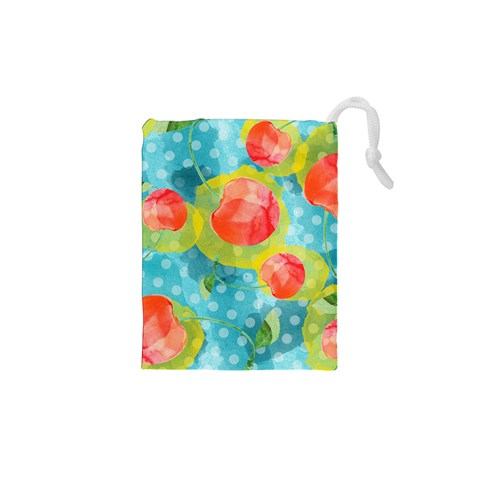 Red Cherries Drawstring Pouches (XS)