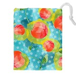 Red Cherries Drawstring Pouches (XXL) Front