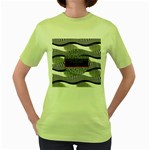 Sometimes Quiet Is Violent Twenty One Pilots The Meaning Of Blurryface Album Women s Green T-Shirt Front