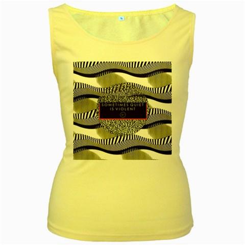 Sometimes Quiet Is Violent Twenty One Pilots The Meaning Of Blurryface Album Women s Yellow Tank Top