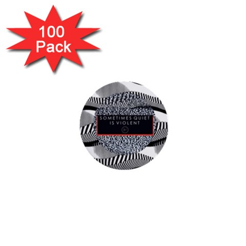 Sometimes Quiet Is Violent Twenty One Pilots The Meaning Of Blurryface Album 1  Mini Buttons (100 pack)