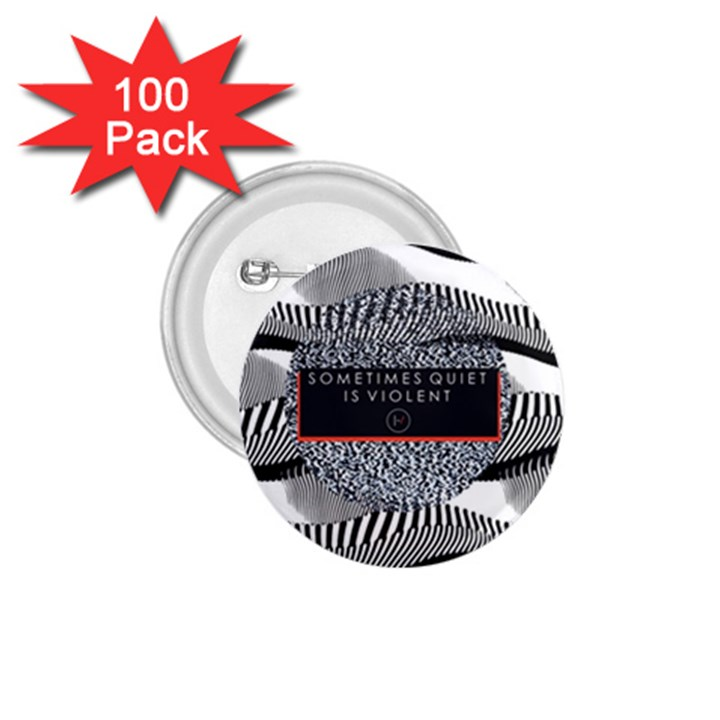 Sometimes Quiet Is Violent Twenty One Pilots The Meaning Of Blurryface Album 1.75  Buttons (100 pack)