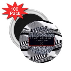 Sometimes Quiet Is Violent Twenty One Pilots The Meaning Of Blurryface Album 2.25  Magnets (100 pack)