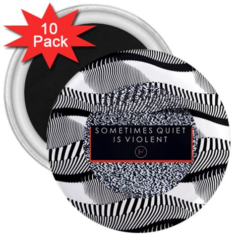 Sometimes Quiet Is Violent Twenty One Pilots The Meaning Of Blurryface Album 3  Magnets (10 pack)