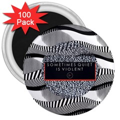 Sometimes Quiet Is Violent Twenty One Pilots The Meaning Of Blurryface Album 3  Magnets (100 pack)