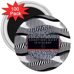 Sometimes Quiet Is Violent Twenty One Pilots The Meaning Of Blurryface Album 3  Magnets (100 pack) Front