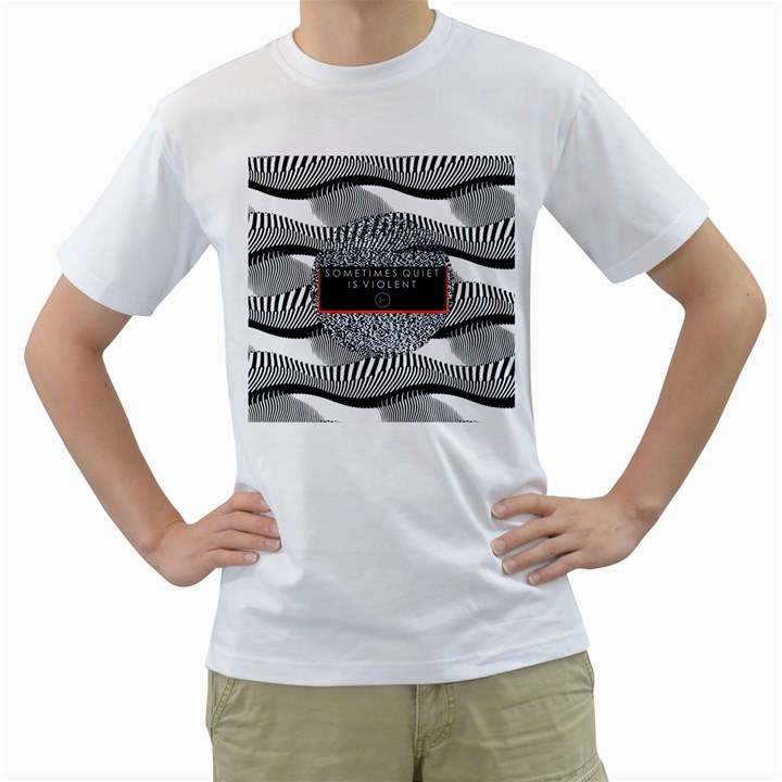 Sometimes Quiet Is Violent Twenty One Pilots The Meaning Of Blurryface Album Men s T-Shirt (White) (Two Sided)