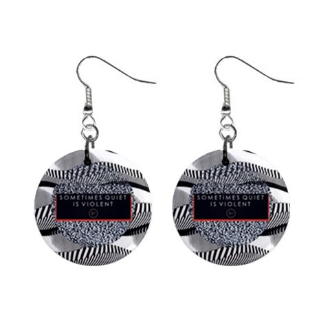 Sometimes Quiet Is Violent Twenty One Pilots The Meaning Of Blurryface Album Mini Button Earrings