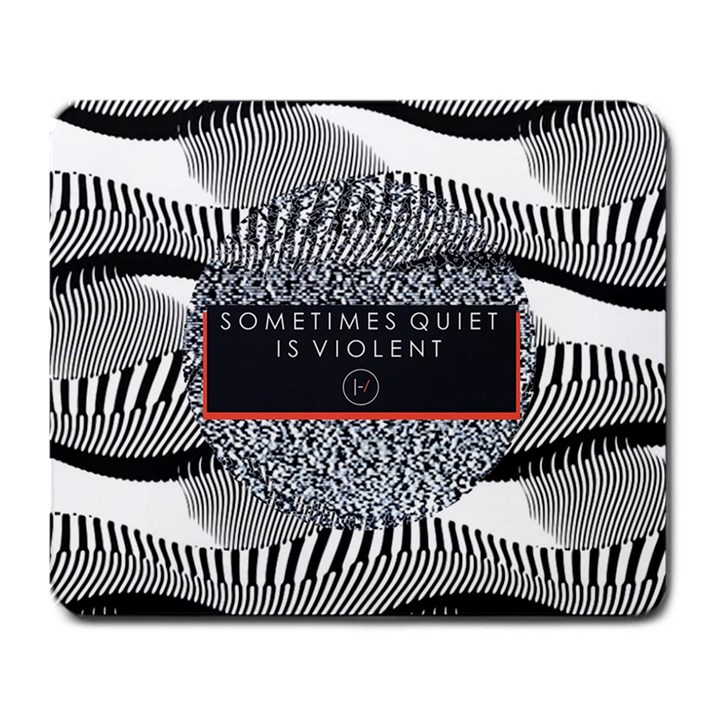 Sometimes Quiet Is Violent Twenty One Pilots The Meaning Of Blurryface Album Large Mousepads