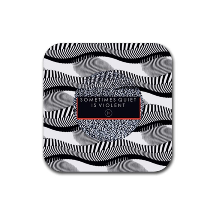 Sometimes Quiet Is Violent Twenty One Pilots The Meaning Of Blurryface Album Rubber Square Coaster (4 pack)