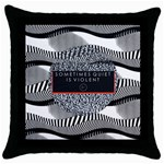 Sometimes Quiet Is Violent Twenty One Pilots The Meaning Of Blurryface Album Throw Pillow Case (Black) Front
