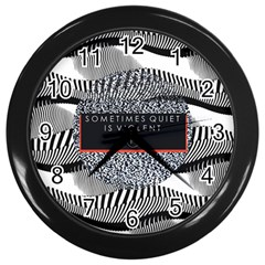 Sometimes Quiet Is Violent Twenty One Pilots The Meaning Of Blurryface Album Wall Clocks (black)