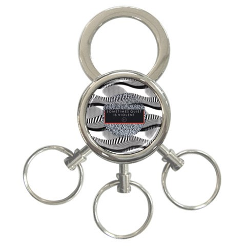 Sometimes Quiet Is Violent Twenty One Pilots The Meaning Of Blurryface Album 3-Ring Key Chains