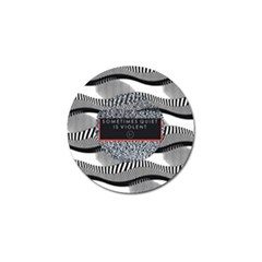 Sometimes Quiet Is Violent Twenty One Pilots The Meaning Of Blurryface Album Golf Ball Marker (4 Pack)