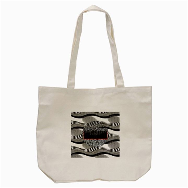 Sometimes Quiet Is Violent Twenty One Pilots The Meaning Of Blurryface Album Tote Bag (Cream)