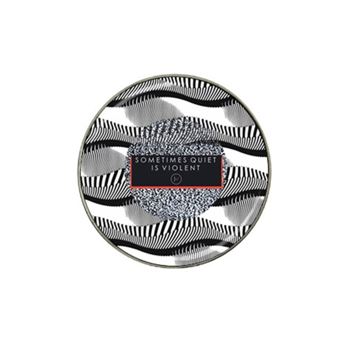 Sometimes Quiet Is Violent Twenty One Pilots The Meaning Of Blurryface Album Hat Clip Ball Marker (4 pack)