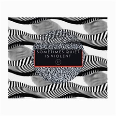Sometimes Quiet Is Violent Twenty One Pilots The Meaning Of Blurryface Album Small Glasses Cloth
