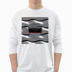 Sometimes Quiet Is Violent Twenty One Pilots The Meaning Of Blurryface Album White Long Sleeve T-Shirts
