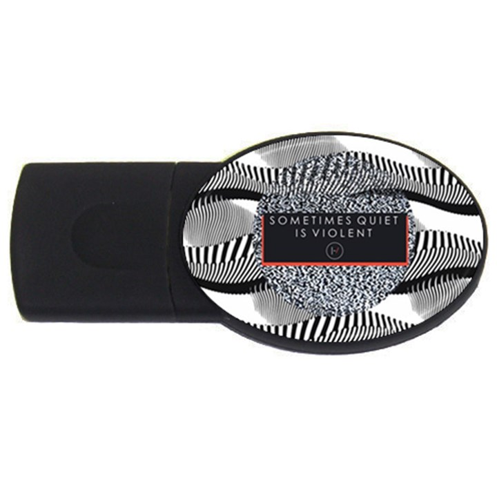 Sometimes Quiet Is Violent Twenty One Pilots The Meaning Of Blurryface Album USB Flash Drive Oval (4 GB)