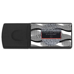 Sometimes Quiet Is Violent Twenty One Pilots The Meaning Of Blurryface Album Usb Flash Drive Rectangular (4 Gb)