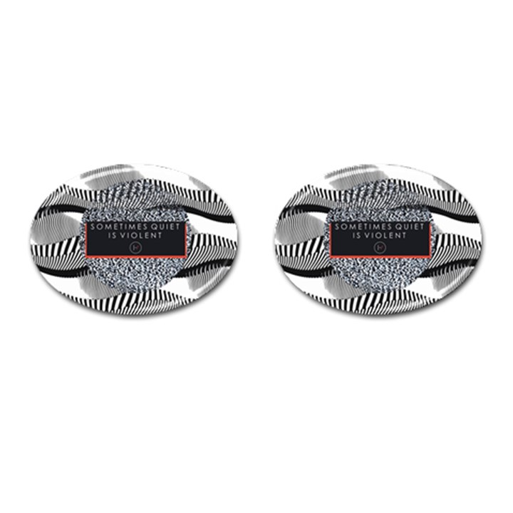 Sometimes Quiet Is Violent Twenty One Pilots The Meaning Of Blurryface Album Cufflinks (Oval)