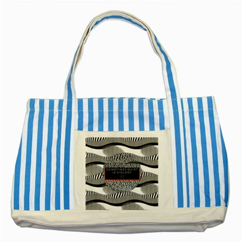 Sometimes Quiet Is Violent Twenty One Pilots The Meaning Of Blurryface Album Striped Blue Tote Bag