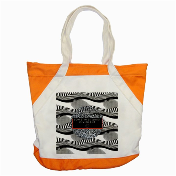 Sometimes Quiet Is Violent Twenty One Pilots The Meaning Of Blurryface Album Accent Tote Bag