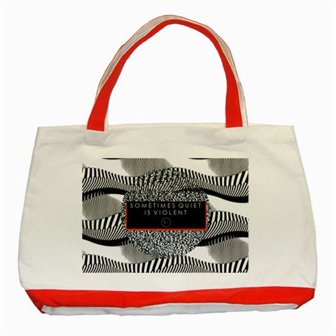 Sometimes Quiet Is Violent Twenty One Pilots The Meaning Of Blurryface Album Classic Tote Bag (Red)